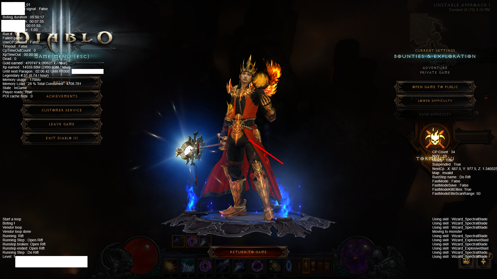Wand of Woh Build - 2400M/hour exp! | Diablo 3 Reaper of Souls BOT